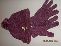 Hat and gloves for girl size 2-5T in Bolingbrook, Illinois