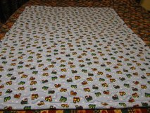 Handmade baby blankets with trains 1 left. in Fort Bragg, North Carolina